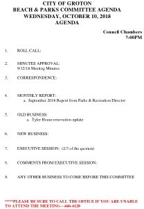 Icon of Beach And Parks Committee Agenda Oct 2018
