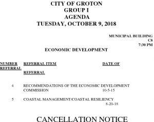 10-9-18 ED Cancellation