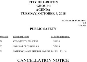 Icon of 10-9-18 PS Cancellation
