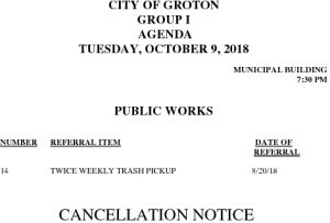 10-9-18 PW Cancellation