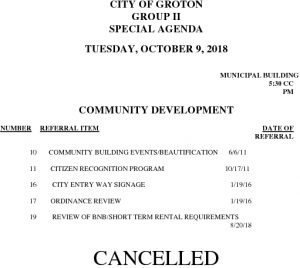 10-9-18 CD Sp Cancellation