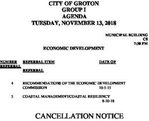 11-13-18 ED Cancellation