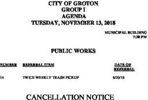 11-13-18 PW Cancellation