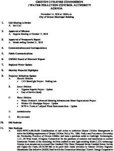 AGENDA Groton Utilities Commission - WPCA 111418
