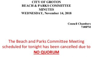 Icon of Beach And Parks Committee 11-14-18 - NO QUORUM
