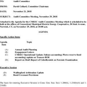 Icon of Audit Comm Agenda 11-29-2018