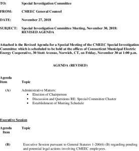 Icon of CMEEC Investigation Committee Agenda 11-30-2018