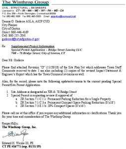 Icon of ENG SUPPLEMENTAL LTR - SPECIAL PERMIT - 70R-78 BRIDGE ST - GROTON CITY - 112818