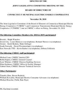 Icon of CMEEC Legislative Committee Minutes 11-30-2018