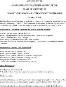Icon of CMEEC Legislative Committee Meeting Minutes 12-05-2018