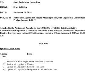 CMEEC Legislative Committe Agenda 01-04-2019