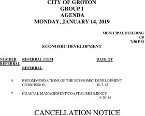 1-14-19 ED Cancellation