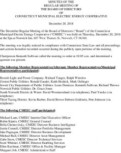 Icon of CMEEC Board Meeting Minutes 12-20-2018 Final