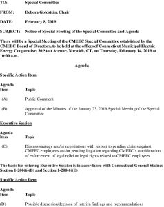 Special Committee Special Meeting Agenda 02-14-2019