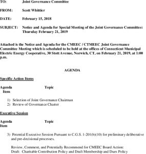 Joint Governance Committee Meeting Agenda 02-21-2019