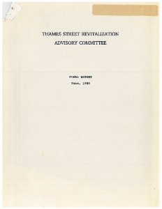 Icon of Thames Street Revitalization Advisory Committee 1989