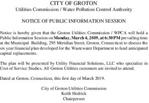 Icon of Notice Of Public Information Session March 4