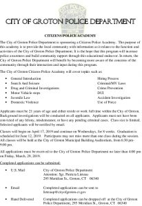 Icon of Citizens Police Academy Letter