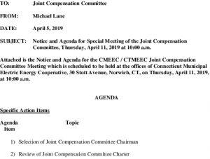 CMEEC Joint Compensation Committee Agenda 04-11-2019