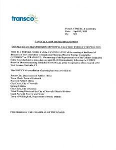 TRANSCO Cancellation Notice 04-25-2019
