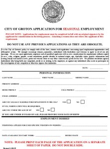 Icon of Application For Seasonal Employment 2021