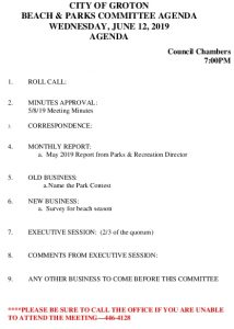 Icon of 6-12-19 B&P Agenda