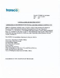 TRANSCO Cancellation 06-27-2019