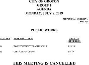 7-8-19 PW Cancellation