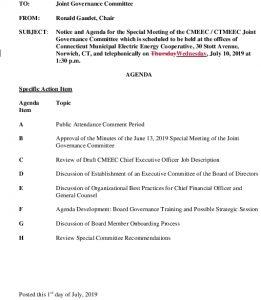 CMEEC Joint Governance Committee Agenda 07-10-2019 Corrected