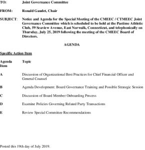 CMEEC Joint Governance Committee Agenda 07-25-2019 MJ Draft
