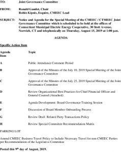 Joint Governance Committee Agenda 08-15-2019
