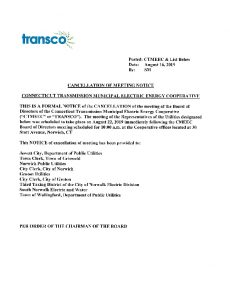 TRANSCO Cancellation 08-22-2019