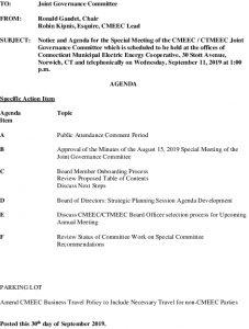 Joint Governance Committee Agenda 09-11-2019