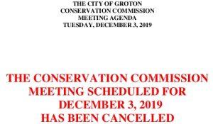 12-3-19 Cancellation