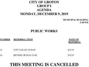 12-9-19 PW Cancellation
