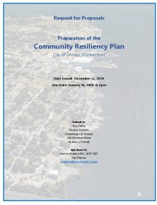 Icon of Resiliency Plan Draft RFP