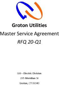 RFQ GU 20-Q1 Master Service Agreement
