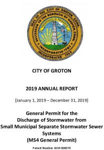 Icon of 2019 - Groton MS4 Annual Report - Draft