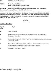 Governance Committee Agenda 02-20-2020