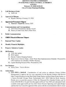 Icon of GUC-WPCA Agenda February 19, 2020