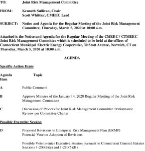 Joint Risk Management Committee Agenda 03-05-2020