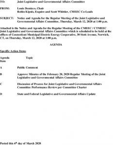 Joint Legislative And Governmental Affairs Agenda 03-12-2020