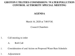 Icon of GUC-WPCA Special Meeting Agenda 03-16-2020 Docx