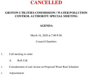 Icon of CANCELLED SPECIAL MEETING 03162020