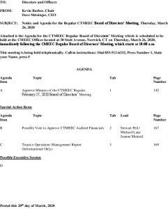 CTMEEC BOD  Agenda 03-26-2020