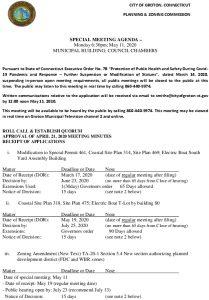 SPECIAL MEETING AGENDA 05-11-20 Public