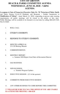 Icon of Beach And Parks Committee Agenda June 2020