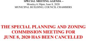 Icon of Cancellation Notice 6-8-20 SPECIAL MEETING