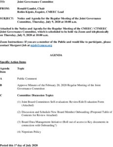 Public Version CMEEC Governance Committee Agenda F 07-09-2020