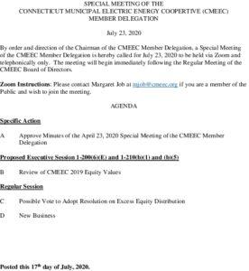 CMEEC MD Special Mtg Agenda 07-23-2020